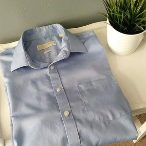 "Michael Kors Non Iron Dress Shirt 15 1/2"" 34/35"
